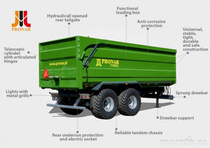 Ремаркета и цистерни Pronar T700XL 1 - Трактор БГ